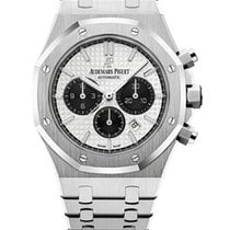 Audemars Piguet Steel Automatic Silver No numerals 41mm pre-owned Royal Oak Chronograph