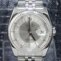 Rolex Datejust 36mm Stainless Steel Silver Rhodium Index Jubilee