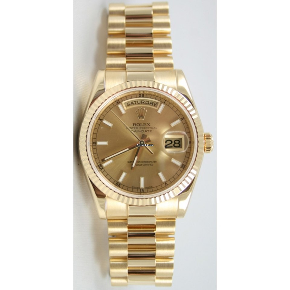 babac8e2e7efd Rolex President Day-Date 118238 Men s 18K Yellow Gold New... for ...