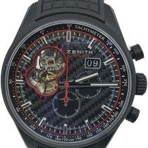 Zenith Aluminum Automatic Black No numerals 45mm pre-owned