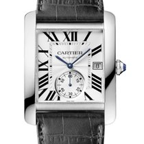 Cartier new Manual winding Small seconds 40.4mm Steel Sapphire crystal