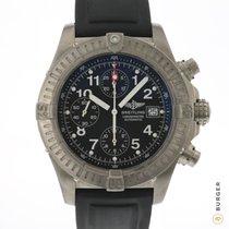 Breitling Super Avenger Titanium 44mm Black Arabic numerals