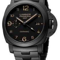 Panerai Luminor 1950 3 Days GMT Automatic pre-owned 44mm Black Date Rubber