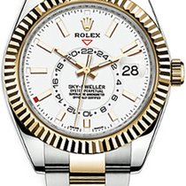 Rolex Rolex 326933 Stainless Steel / Yellow Gold White Dial New Gold/Steel 42mm Automatic