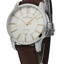 Maurice Lacroix Pontos Date Stahl 40mm Silber