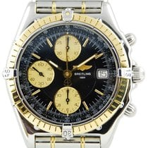 Breitling Chronomat Bullet Bracelet SS / YG Blue Dial - D13050
