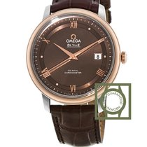 Omega De Ville Prestige Co-Axial 39.5 mm Steel/Rose Gold Brown...