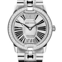Roger Dubuis Velvet White gold 36mm Silver (solid) Roman numerals