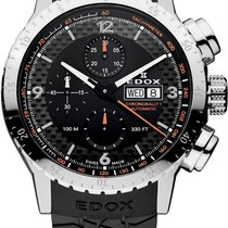 Edox Chronorally Steel 45mm Black