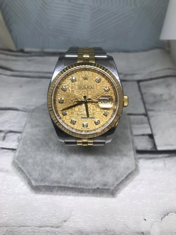 Rolex Datejust Diamond Dial Yellow Gold Z Series 36mm For 7 902 For