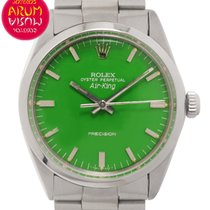 Rolex Air King Precision Acero 34mm Verde España, Madrid