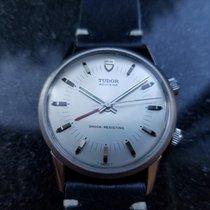 Tudor Heritage Advisor pre-owned 35mm Silver Alarm Leather