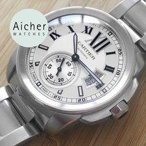까르띠에 스틸 자동 로마숫자 42mm 중고시계 Calibre de Cartier