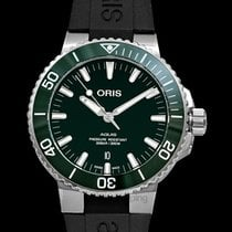 Oris Aquis Date Steel 43.50mm Green United States of America, California, Burlingame