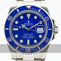 Rolex Submariner Date Oro blanco 40mm Azul