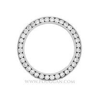 Midsize 14k white gold 3ct. H-SI1 diamond bezel.Top quality...