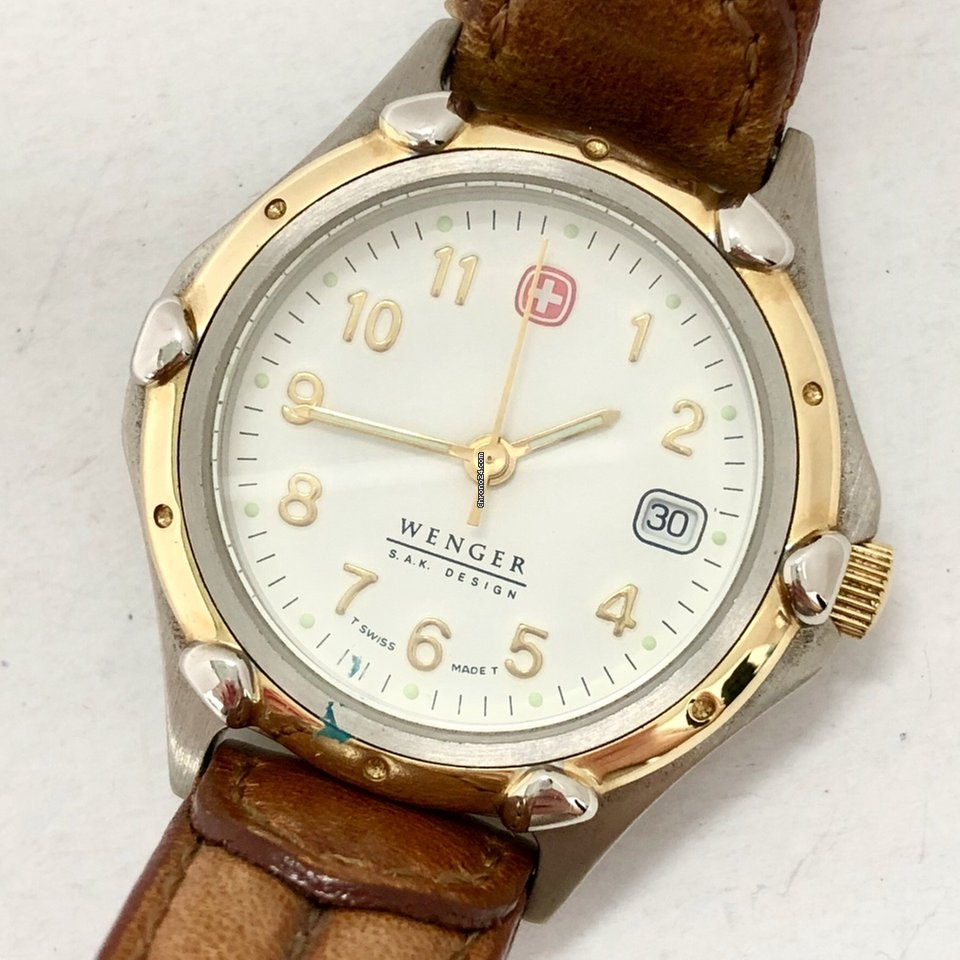 Wenger S A K Design Quartz Gold Plated Steel Ladies Watch For 199 For Sale From A Trusted Seller On Chrono24