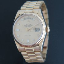 Rolex Day-Date Yellow Gold Diamond Dial 18038