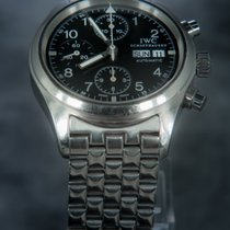 IWC Pilot Chronograph with steel bracelet and leather strap
