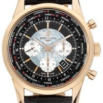 Breitling Transocean Chronograph Unitime Rose gold 46mm Black No numerals United States of America, New York, New York