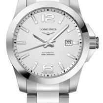 Longines Conquest Steel 41.00mm Silver (solid) Arabic numerals United States of America, Florida, Tarpon Springs