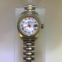 Rolex Titanium Automatic Pink Roman numerals 26mm pre-owned Lady-Datejust