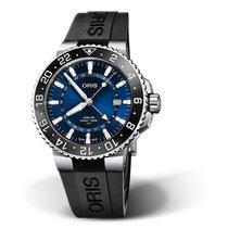 Oris Aquis GMT Date Steel Blue No numerals