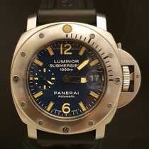 Panerai Luminor Submersible pre-owned 44mm Blue Date Rubber