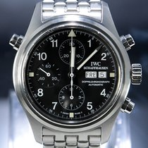 IWC Pilot Double Chronograph Otel 42mm Negru Arabic