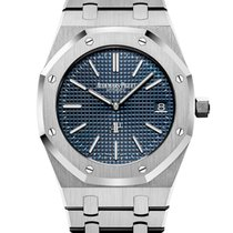 Audemars Piguet Royal Oak Jumbo Acero 39mm Azul Sin cifras