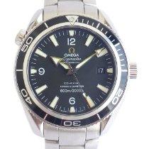 Omega Seamaster Planet Ocean Zeljezo Crn Arapski brojevi