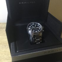 Hamilton Khaki Field Officer Acier 44mm Noir Arabes France, Menton