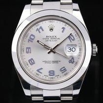 Rolex Datejust II Zeljezo 41mm Srebro Arapski brojevi