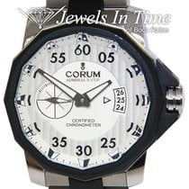 Corum Admiral's Cup Competition 48 Tytan 48mm Srebrny Arabskie