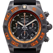 Breitling Steel Automatic Black No numerals 44mm new Chronomat 44 Raven