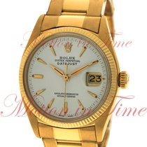 Rolex Yellow gold Automatic White No numerals 36mm pre-owned Datejust