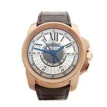 Cartier Calibre Central Chronograph 18K Rose Gold Men's 3242...