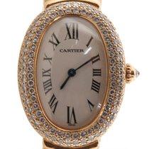 Cartier Baignoire Solid 18k Yellow Gold Factory Diamond Bezel...