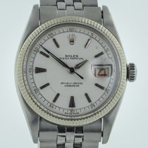 Rolex Datejust 6305, Guilloche Dial, Bubble Back, Mens,...