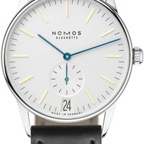NOMOS Orion Datum Steel 38mm White United States of America, New York, Airmont