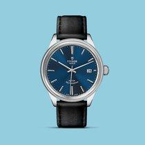 Tudor Style 41mm Index blau Lederband -NEU-