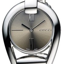 Gucci Horsebit Small Brown Sun-Brushed Dial Steel Bangle Women...