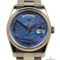 Rolex Day Date Weissgold 118209  mit Box + Pap. LC 100 aus 2008