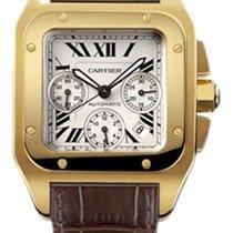 Cartier Santos 100 Żółte złoto 41mm Rzymskie Polska, Wrocław