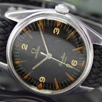 Omega Steel 35mm Black Arabic numerals