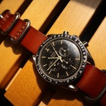 Omega Chronograph 42mm Manual winding 1968 pre-owned Speedmaster Professional Moonwatch Black