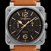 Bell & Ross Steel 42mm Automatic BR0394-ST-G-HE/SCA pre-owned