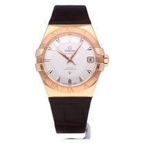 Omega Rose gold Automatic Silver Roman numerals 38mm new Constellation Men