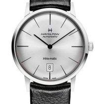 Hamilton Intra-Matic Acero 38mm Plata