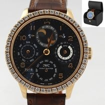 IWC Portuguese Perpetual Calendar Rose gold 44mm Black Arabic numerals United States of America, New York, Huntington